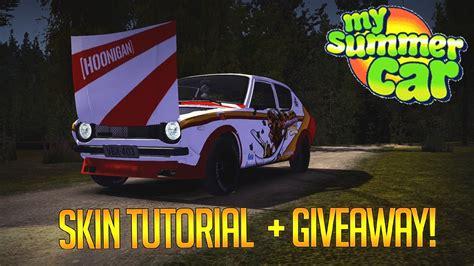 summer car skin tutorial giveaway youtube