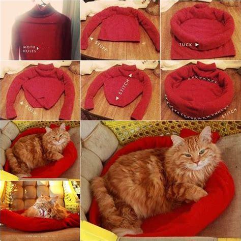 diy pet bed   sweater