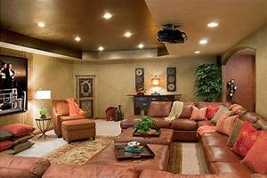 Theater/media room without traditional media seating ...