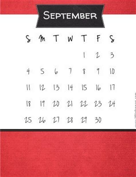 printable september  calendar customize