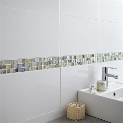 Faience Salle De Bain Blanc Carrelage Mural En Fa 239 Ence Blanc 25 X 40 Cm 7 95