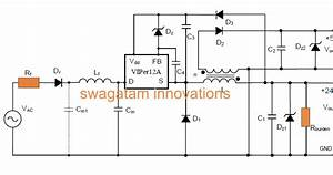 Simple 220v Smps Buck Converter Circuit Using Viper12a Ic