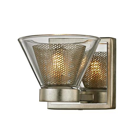 troy lighting wink 1 light silver leaf 5 25 in w led bath