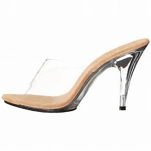 Bruna högklackade skor