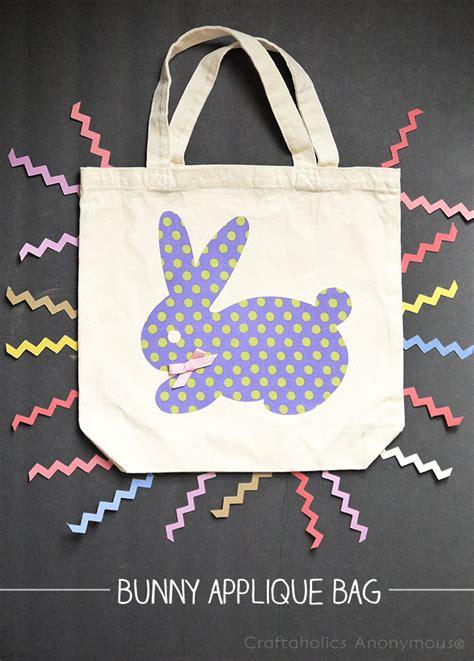 craftaholics anonymous bunny applique bag tutorial