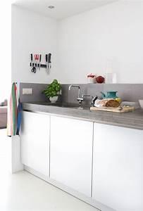 Plan De Travail De Cuisine : cuisine gris clair laqua en galerie et cuisine laqu e ~ Edinachiropracticcenter.com Idées de Décoration