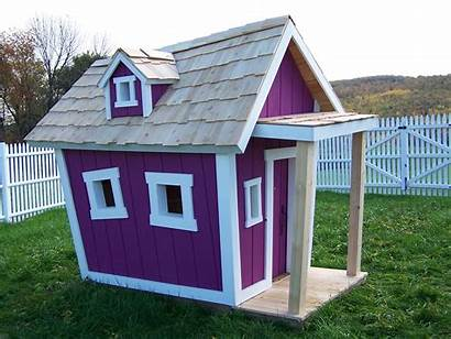 Crooked Playhouse Children Purple Roof Houses Play