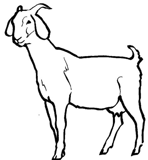 goat clipart black and white free goat clipart cliparts co