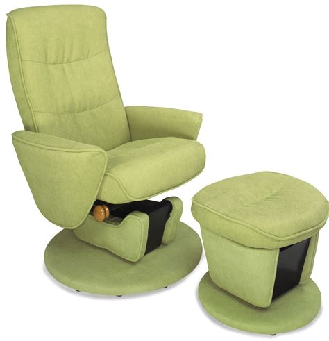 relax r leaf green fabric swivel glider recliner with