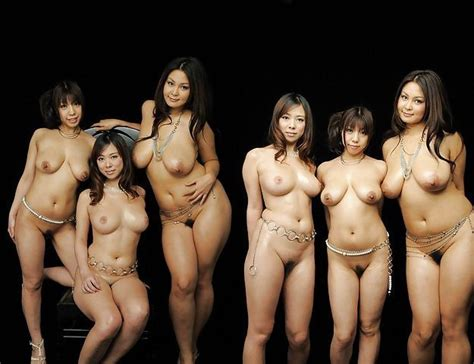 Group Of Nude Japanese Girls A Cunt Squad Slant Image