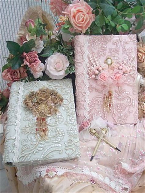 romantic victorian lace photo album