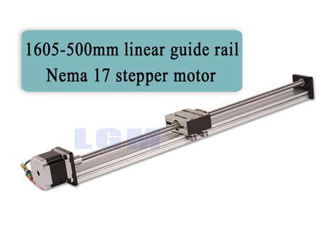 linear rail cnc rails bearing guide motor slide screw kit stepper nema ball 500mm guides 1204 nema17 12mm stroke effective