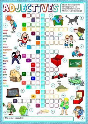 adjectives interactive  downloadable worksheet check