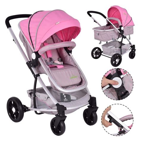 Baby Stroller by 2 In1 Foldable Baby Stroller Travel Newborn Infant