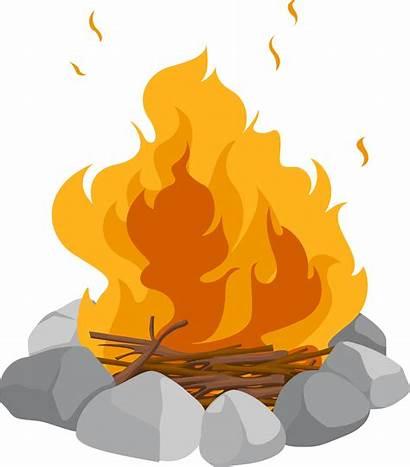 Clipart Bush Burning Transparent Moses Campfire Webstockreview