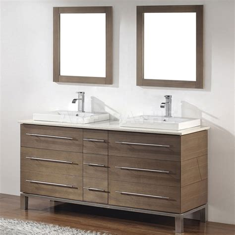 Houzz Bathroom Vanities Modern bathe ginza 63 smoked ash bathroom vanity