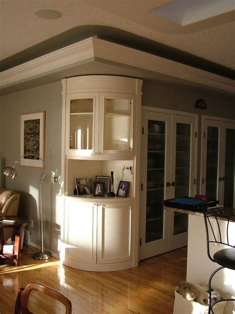 built  corner storage home traditional kitchen design