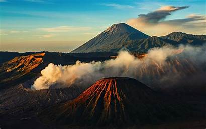 Mountains Nature Indonesia Natural Volcanoes Landscapes Clouds