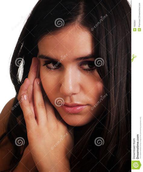 sad anxious emotion facial expression stock image image