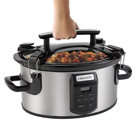 crock pot cooker slow quart cook oval carry single hand master programmable portable cooking pots cookers crockpot
