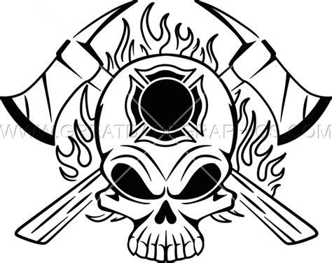 14074 firefighter helmet clipart black and white fighter skull production ready artwork for t shirt