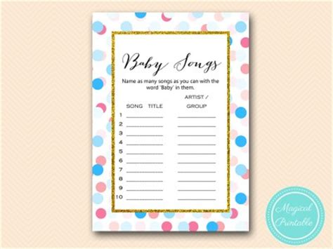 gold pink blue dots gender reveal theme games magical
