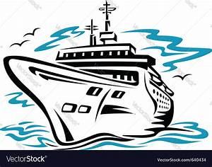 Cruise ship Vector Image by Seamartini - Image #640434 ...