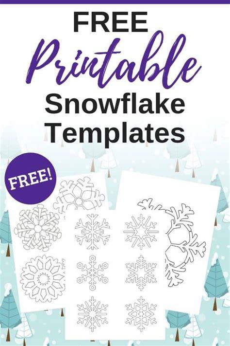 printable snowflake stencils templates