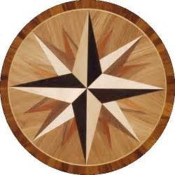 compass wood floor medallions and borders
