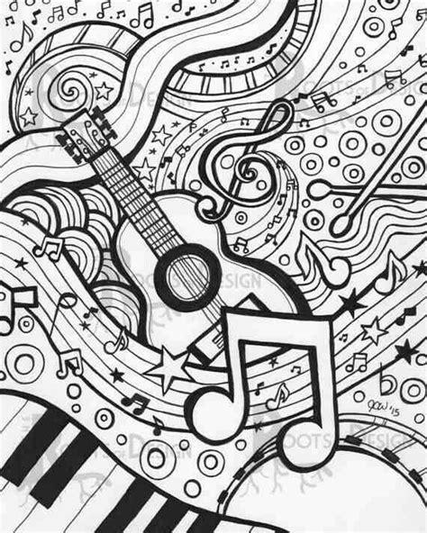 sheet coloring pages mandala musik ausmalbilder