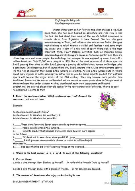 reading comprehension sports base jumping  imagenes