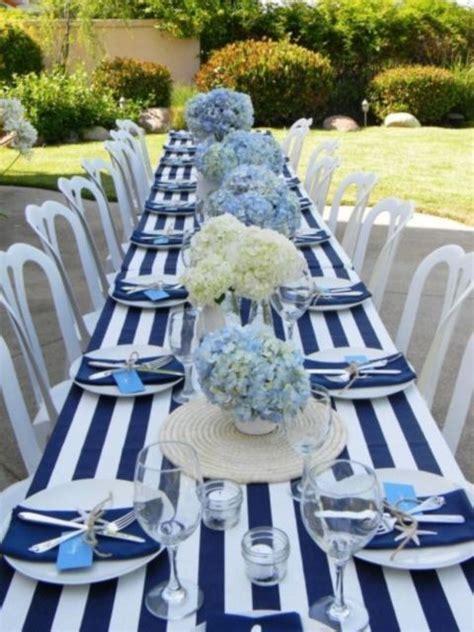 stylish nautical beach wedding ideas wedding table