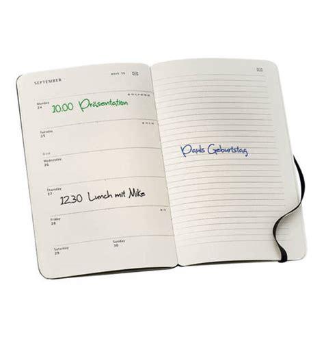 moleskine moleskine smart kalender fuer das smart writing