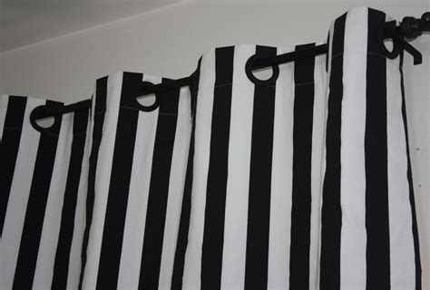 Grommet Top Black And White Vertical Striped Curtain Hanging Rods For Curtains Childrens Voile Tabbed Curtain Panels Martha Window Black White Red Fishtail Swag Pattern Victorian And Drapes Stage Pulley System