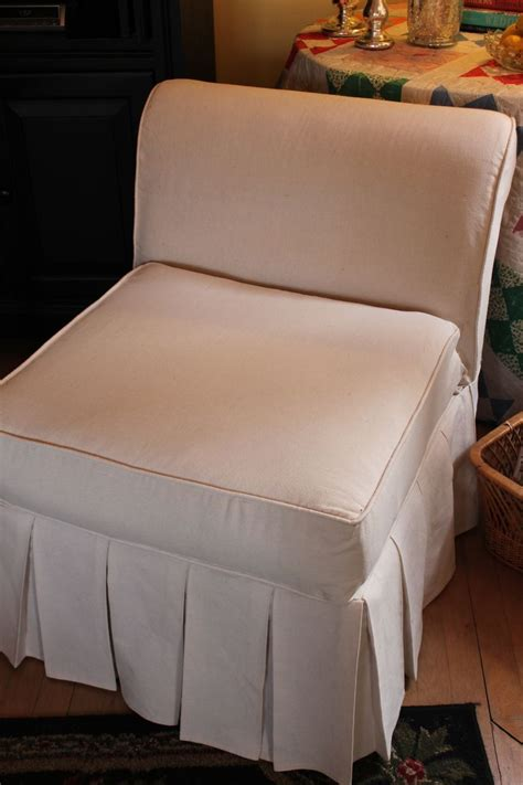 Slipper Chair Slipcover by Opulent Cottage How To Slipcover A Slipper Chair Part
