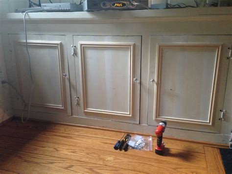 putting trim on cabinets adding trim the s den