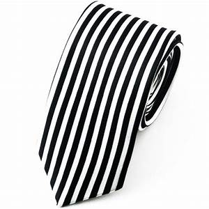 Ties Planet Black & White Vertical Striped Skinny Tie from ...