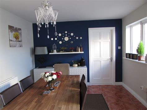dining room  navy blue feature wall  alenacdesign