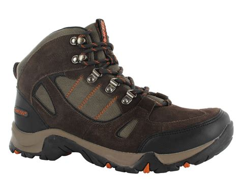 Mens Hi-tec Falcon Wide Fit Leather Waterproof Walking