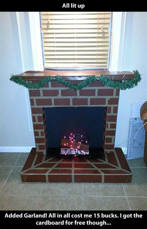 crafts cardboard fireplaces images  pinterest