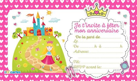 Carte Anniversaire Fille by Invitation Anniversaire Fille Gratuit Invitation