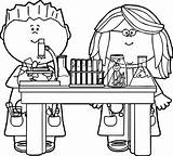 Coloring Chemistry Science Preschoolers Popular sketch template