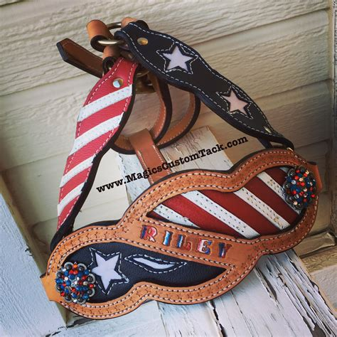 foto de Magics Custom Tack Red white and blue Stars and Stripes