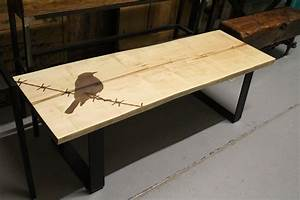 maple live edge coffee table goes to the birds rebarn With maple live edge coffee table