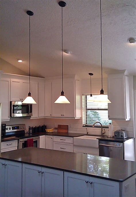 glass pendant lighting for kitchen glass shade pendants bring vintage flavor to kitchen 6846