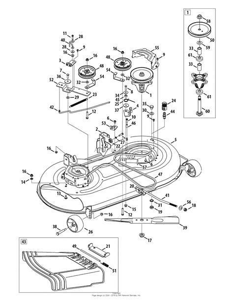 Troy Bilt Bronco Deck Belt Diagram by Troy Bilt 13ax78ks066 Bronco 2010 Parts Diagram For