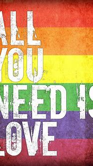 All You Need Is Love, premium art print (grunge rainbow ...