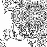 Coloring Swear Adult Words Adults Word Printable Cuss Sheets Grown Colouring Ups sketch template
