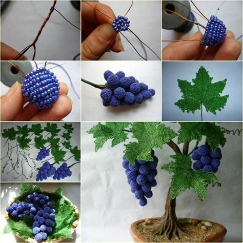 beaded home decor interesting diy bead and wire grape tree collections of pendants