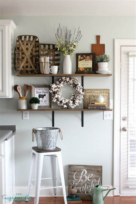 Joanna gaines crafts to repurposed furniture from distressed pallet wall art to whitewashed furniture, these step by step tutorials will show you how to get the farm house style of your dreams! 20 Gorgeous Kitchen Wall Decor Ideas to Stir Up Your Blank Walls - The ART in LIFE